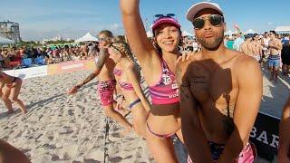 Miami beach model volleyball south beach in 360 VR