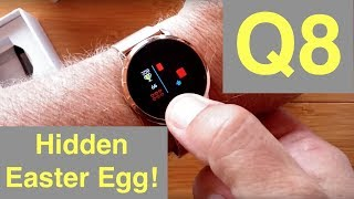 Newwear Q8 Smartwatch with Continuous Heart Rate and Blood Pressure Monitoring: Hidden Easter Egg!