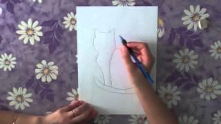 Как нарисовать кота поэтапно. Часть 6.(В данном видео я расскажу о том, как нарисовать поэтапно кота. Рисуйте с нами в нашей группе http://vk.com/shkola_izo...., 2013-05-12T06:08:49.000Z)