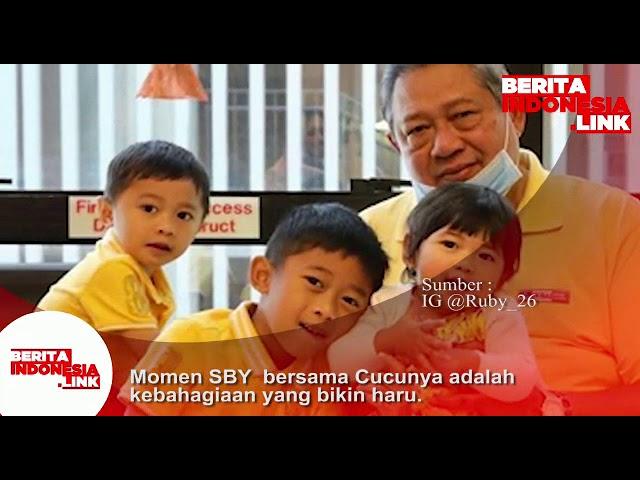 Momen SBY bersama Cucunya adalah kebahagiaan yg bikin haru.