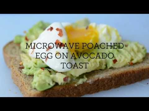 Microwave Poached Egg On Avocado Toast