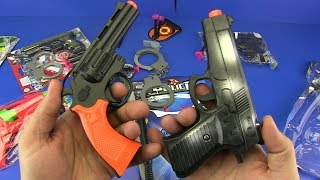 Gun toys  - Box of Toys with colored toy guns !!  Toys / Video for kids