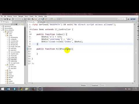 CodeIgniter Tutorial - Part 1 - Controllers and Views - 동영상