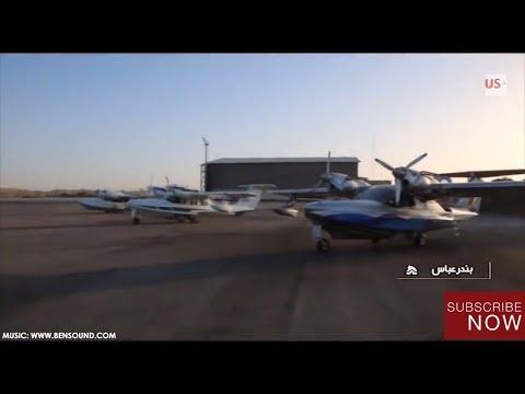 Iran's Islamic Revolution Guards Corps (IRGC) unveils light amphibious military seaplanes