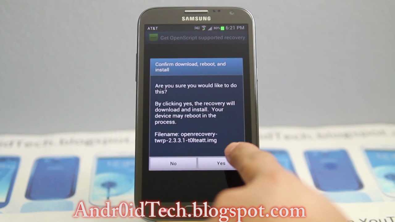 How to install Team Win Recovery on Samsung Galaxy Note 2
