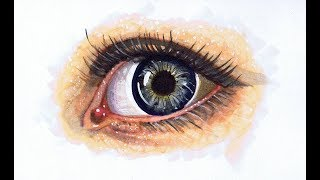 Coloring a Realistic Eye With Copic Markers