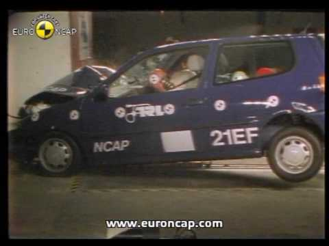 euro ncap vw polo 1997 crash test youtube. Black Bedroom Furniture Sets. Home Design Ideas