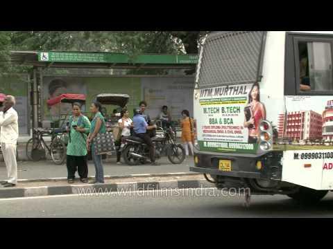 Rickshaw stand outside Vishwavidyalaya metro station