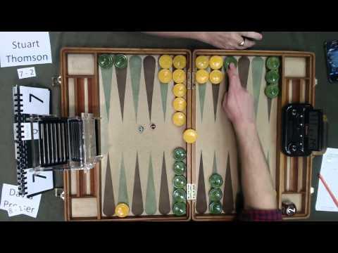 Carolina Backgammon R10 David Presser v Stuart Thomson Part 2