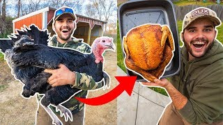 Giant PET TURKEY Catch Clean Cook!!! (Thanksgiving Special)