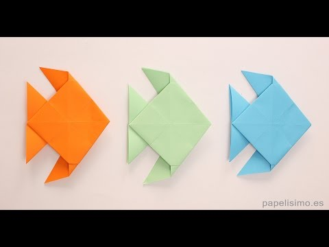 Cómo hacer pez de papel - Origami - Papiroflexia - Muy fácil