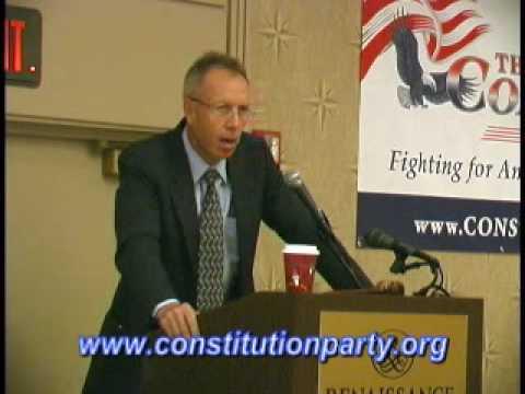 Constitution Party Speaker - Marshall DeRosa Part One