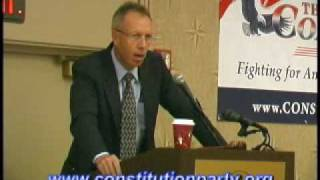 Constitution Party Speaker - Marshall DeRosa Part One