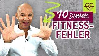 10 dumme Fitness FEHLER die JEDER macht auch ich ! Coach Cecil
