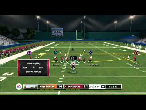 Ncaa Football 14 Road to Glory QB Bill Thompson Week 2