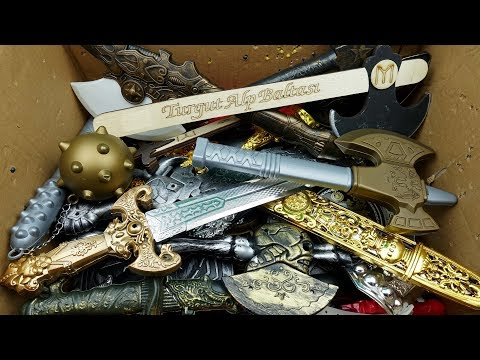 Box Of Toys!! Medieval Toy Sword And Shield And Toy Combat Axe - Toys For Kids