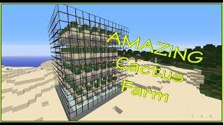 Amazing Minecraft Cactus Farm Tutorial