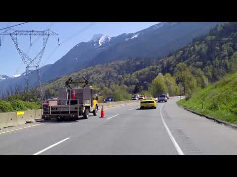 Driving From Chilliwack To Hope BC Canada - Highway #1 - 2018