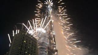 Burj Khalifas Fireworks 2016 - 2017
