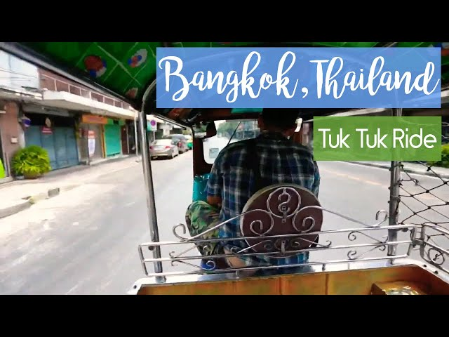Tuk Tuk Ride in Bangkok, Thailand