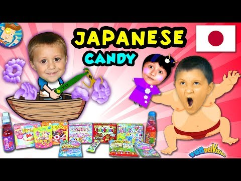 AMERICANS TRY JAPANESE CANDY and SODA! Taste Test and Challenge Fun FUNnel Vision
