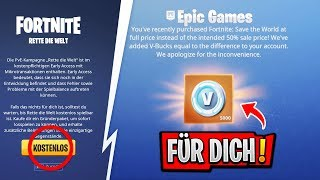'NOUVEAU' RETTE THE WORLD GRATUIT - 5000 V-BUCKS comme un GIFT! Fortnite Saison 7