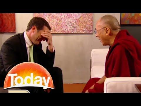 The Dalai Lama walks into a pizza shop...