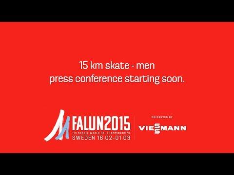 Press Conference - 15 km skate - Men