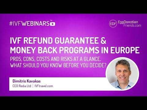 IVF Refund Guarantee or Money Back programs in Europe. How to decide? #IVFWEBINARS