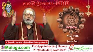 Mithuna Rasi (Gemini Horoscope) మిధున రాశి - May 27th - June 02nd Vaara Phalalu 2018