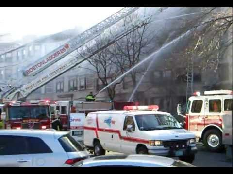 Fire in brookline, massachusetts .mp4