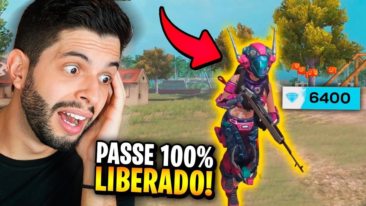 VALEU A PENA?!? JÁ LIBEREI TODO O PASSE DE GAMES NO FREE FIRE E MITEI!