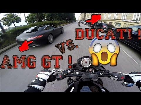 Mercedes Benz AMG GT!   Rennen gegen Ducati!   Zink   Blackout