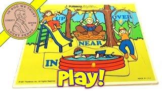 Playskool Playground Fun 1987 #385-04 Wood Frame Tray Puzzle