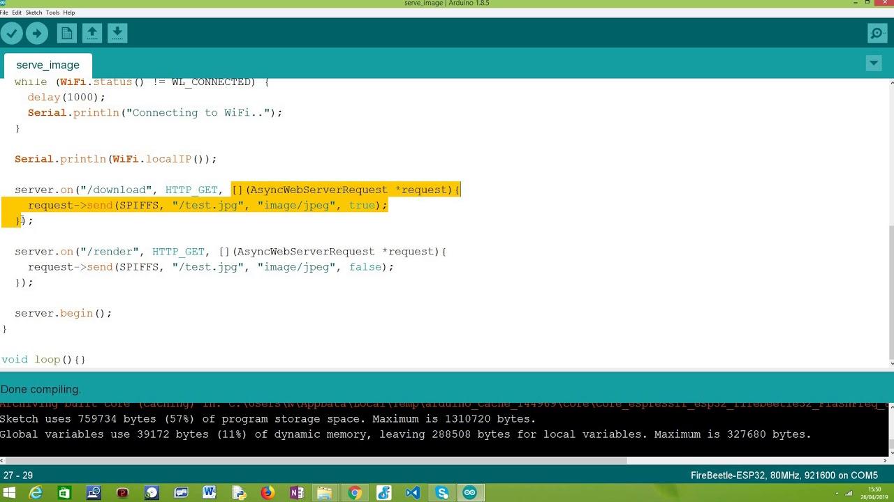 ESP32 Arduino HTTP server: Serving image as attachment