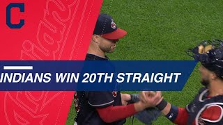 Lindor, Kluber, lead team to 20
