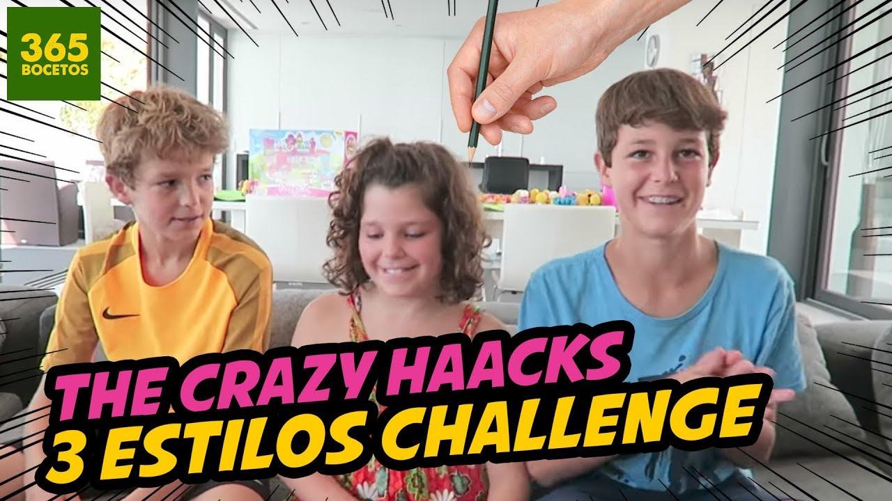 The Crazy Haacks Reto Como Dibujar En 3 Estilos Challenges Kawaii Disney Gravity Falls