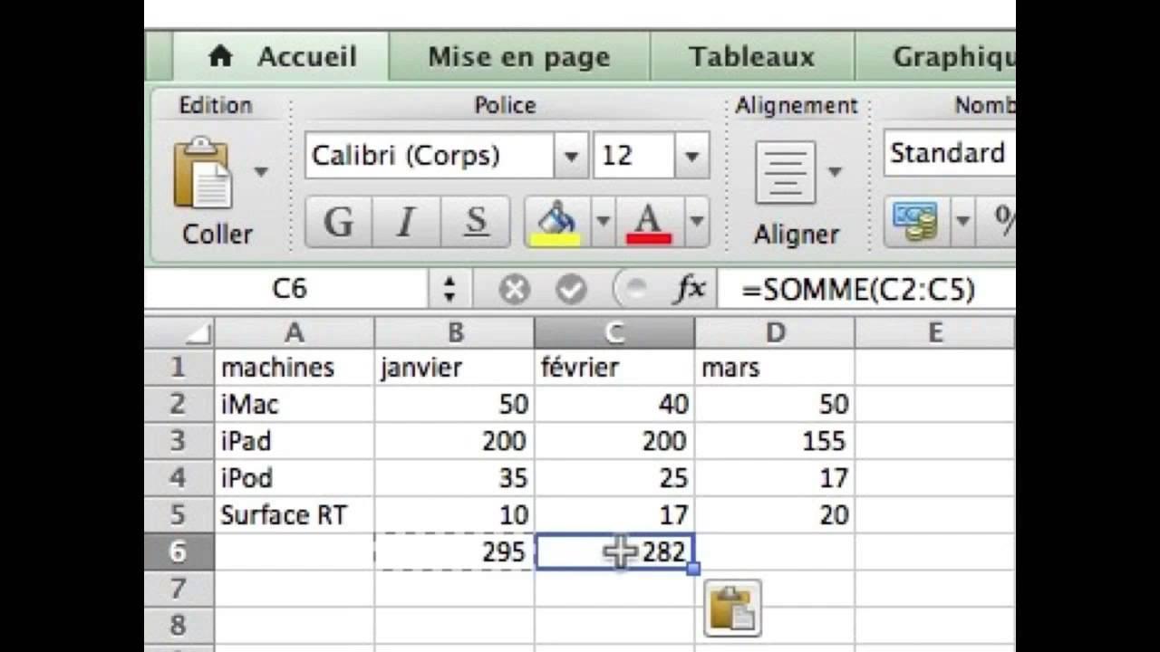 Initiation à Excel 2011 - 1 Un petit exercice pour commencer - YouTube