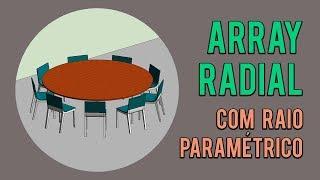 Array radial com raio paramétrico no Revit