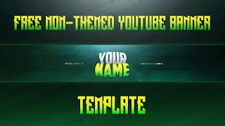 Free Non-themed Youtube Banner Template