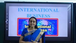 I PUC | BUSINESS STUDIES  | International Business - 01