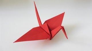 Origami-Kranich Faltanleitung