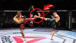 ТОП 7 Подстроенных НОКАУТОВ / СЛОМАЛИ НОГИ во ВРЕМЯ ХАЙ КИКОВ в UFC 3