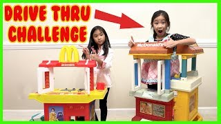 Pretend Play Mcdonalds Drive Thru with Ryan's Toy Review inspired ( Mcdonalds Drive Thru Prank )