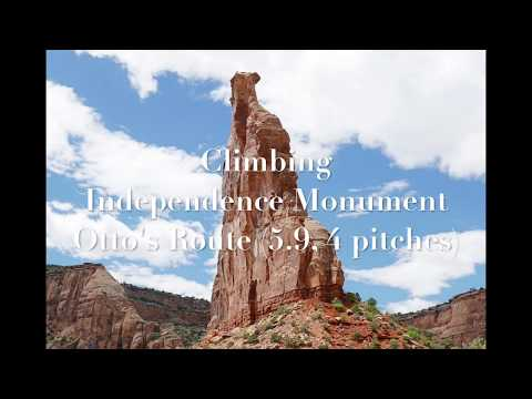 Climbing Otto's Route on Independence Monument, Colorado