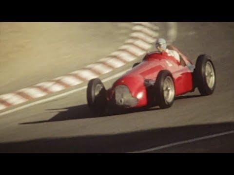 Fangio drives 159 Alfetta at 74 years (1985 Laguna Seca)