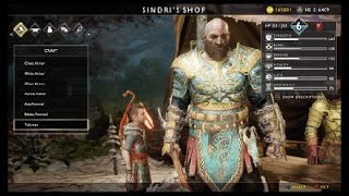 GOD OF WAR NEW GAME+ NEW ARMOR & SHIELD!!