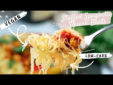 Vegetarian Spaghetti Squash Boat
