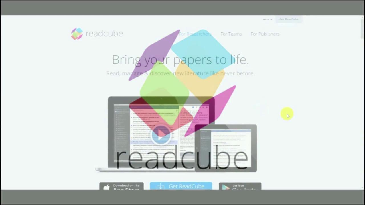 CS391: Readcube tutorial