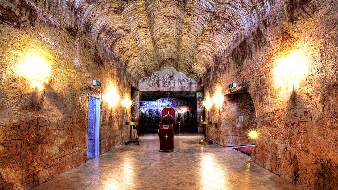 Подземный город в Австралии. Город под горой - YouTube